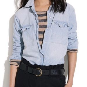 Madewell Chambray Denim Shirt L